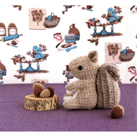 crochet amigurumi squirrel slugom for squirrel and acorn amigurumi plush crochet pattern pdf