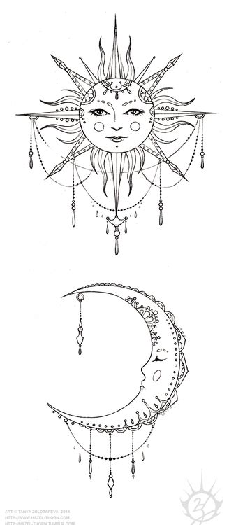 sun and moon tattoo design and ideas designs