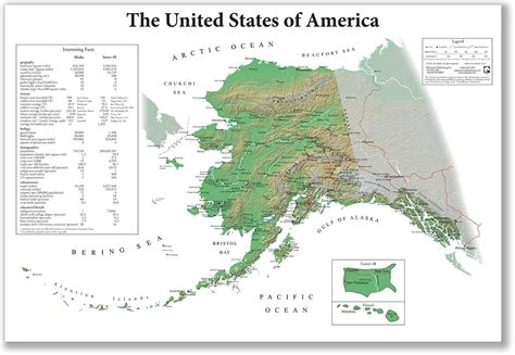 alaska on usa map the united states of america from alaska s point of view