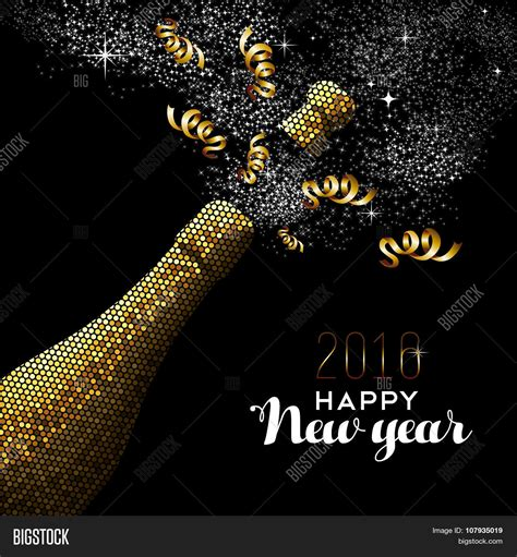 new year gold happy new year 2016 gold drink vector photo bigstock