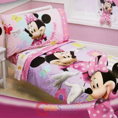 disney minnie mouse toddler bedding set 4pc microfiber
