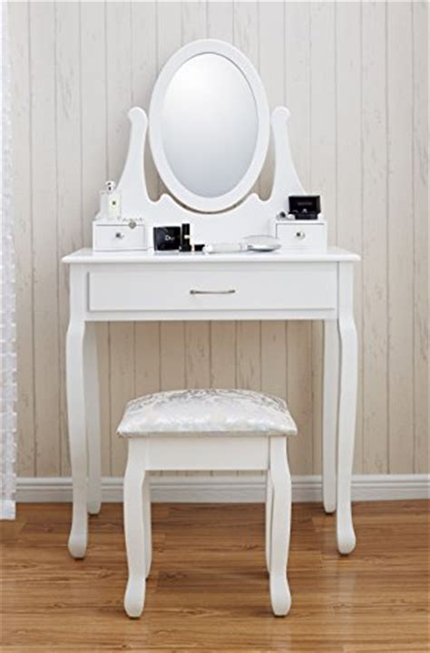 new amalfi agtc0009 dressing table mirror stool set shabby chic vanity bedroom dresser