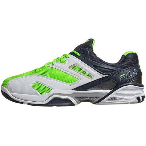 fila sentinel s tennis shoes white blue green