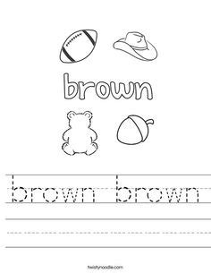 brown coloring pages preschool 1000 images about color activities and mini books on