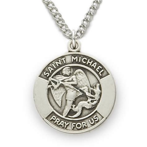 St Michael Medal For Officers by St Michael Patron Of Officers Sterling Silver