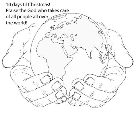 coloring pages of the world in god s hands world in his hands coloring page color book pinterest
