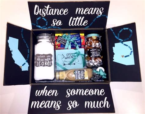 gift ideas for distance relationships distance relationship box pinteres