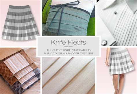 how to make knife pleats sew4home