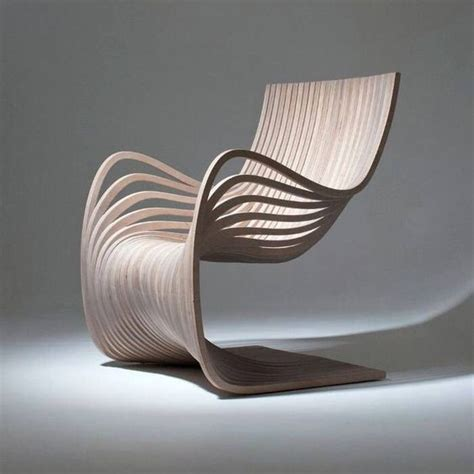 wooden chair showing movement and material conscious