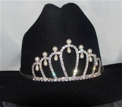 tiara boat hat quot princess of pearls quot rhinestone pearls cowboy hat tiara usa