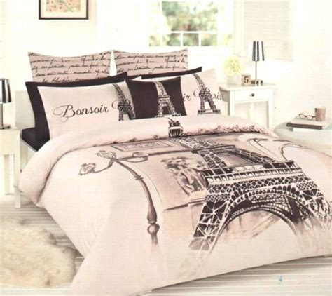 paris bedding full paris themed full bedding paris bonsoir eiffel tower double size quilt cov