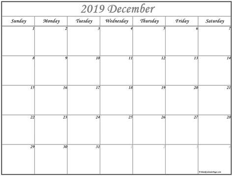 december  calendar  printable monthly calendars