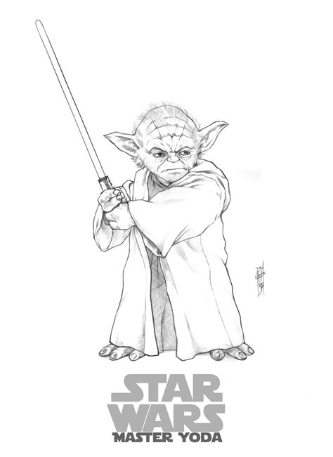 yoda coloring pages printable master yoda by thegerjoos on deviantart