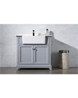 Overstock Bathroom Vanity by Amazing Deal Helanah Grey 36 Inch Farmhouse Apron Single