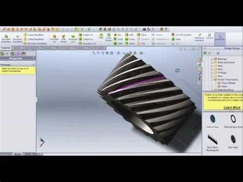 solidworks tutorial helical gear helical gear creation in solidworks 2012 funnydog tv