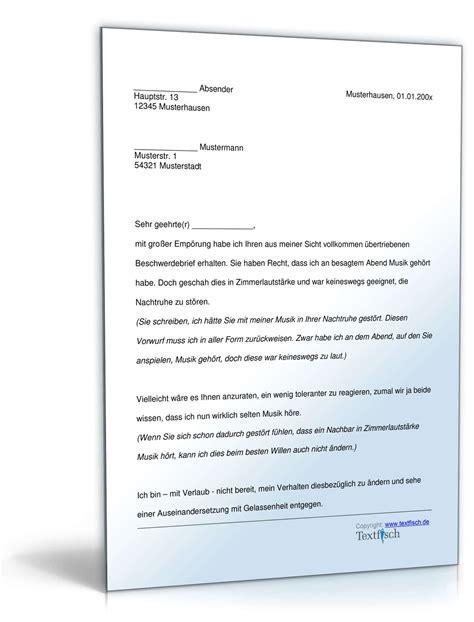 Reklamation Brief Reise Zur 252 Ckweisung Beschwerde L 228 Rmbel 228 Stigung Muster Zum