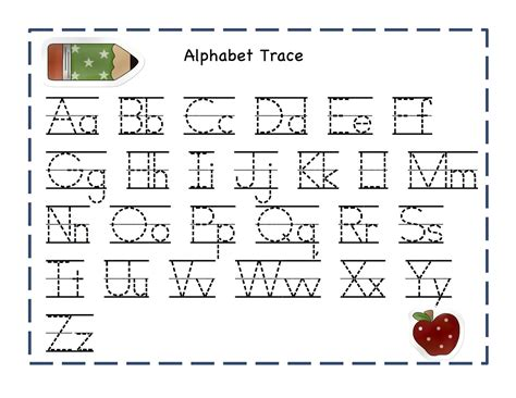 printable letters of the alphabet for tracing alphabet tracing pages 2014 printable kiddo shelter