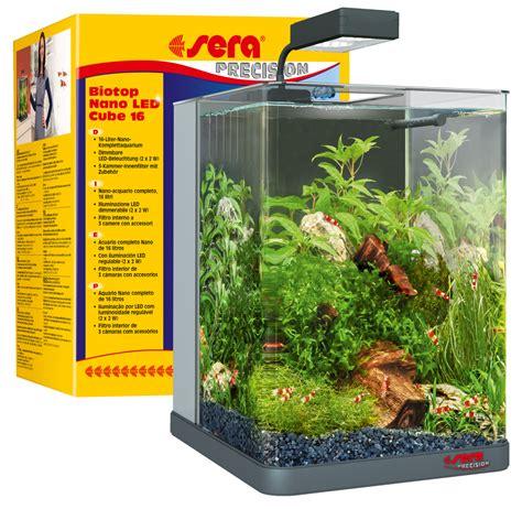 aquarium 60 l 632 sera 31106 biotop nano led cube 60 ein 60 l s 252 223 wasser