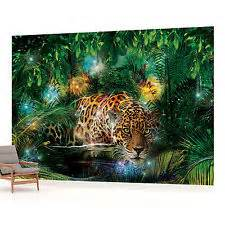 rainforest wall mural jungle mural home furniture amp diy ebay