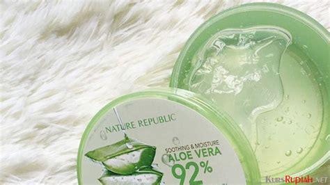 Harga Nature Republic Aloe Vera Untuk Jerawat diklaim mengandung 92 lidah buaya harga nature republic