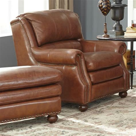 Leather Chair And Ottoman Sets Craftmaster L1646 Traditional Leather Chair And Ottoman Set Belfort Furniture Chair