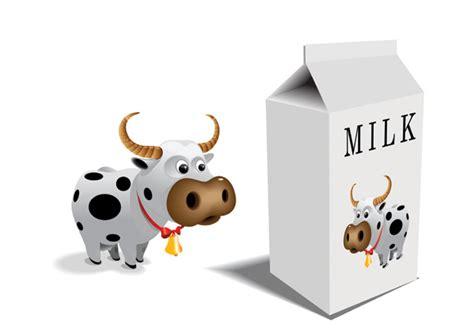 cartoon cow vector milk cartons and free vector 4vector
