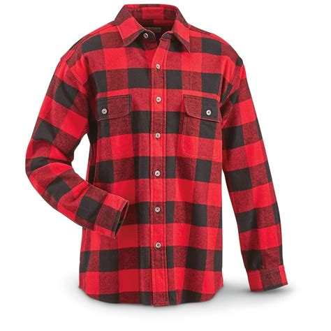 Plaid In Or Out by Moose Creek S Brawny Plaid Flannel Shirt 665576