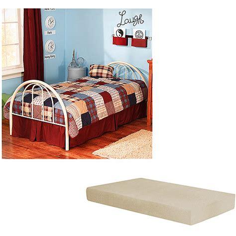 walmart twin beds with mattress brooklyn white twin bed with memory foam mattress