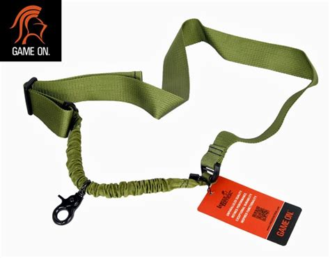 1 Point Bungee Rifle Gun Sling Green lancer tactical single point bungee gun sling for airsoft