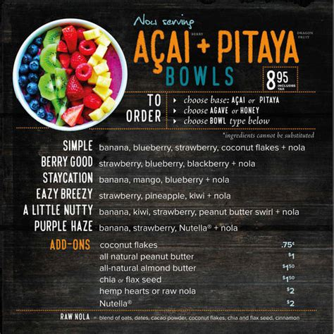 Come With Me Bowl Menu by Acai Bowl Craze Comes To New Providence At Bagel Cafe