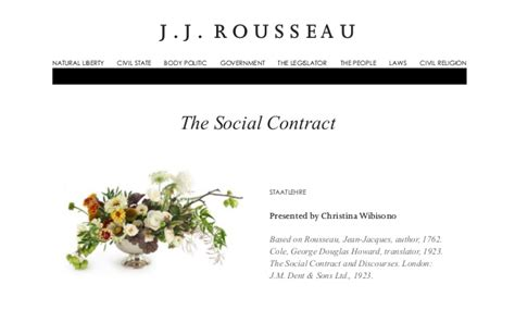 Why The Social Contract Rousseau the social contract by j j rousseau