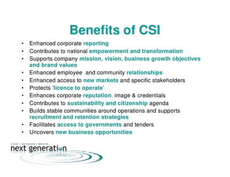 Business Studies Csi Essay csi corporate social invesment and community development 2009