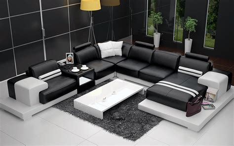 b175 living room set full leather white buy online at olympian sofas nurburg black white leather sofa