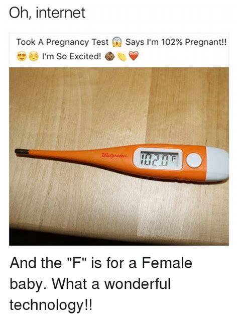 Pregnancy Test Meme - 25 best memes about oh internet oh internet memes