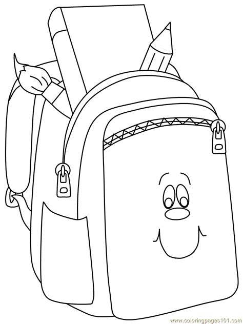 coloring pages back pack face education gt school free