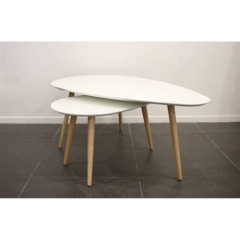 Table Basse Gigogne But by Surf Table Basse Gigogne Blanche Achat Vente Tables