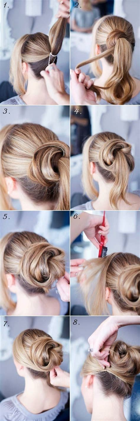 easy hairstyle tutorials for hair 14 easy step by step updo hairstyles tutorials pretty