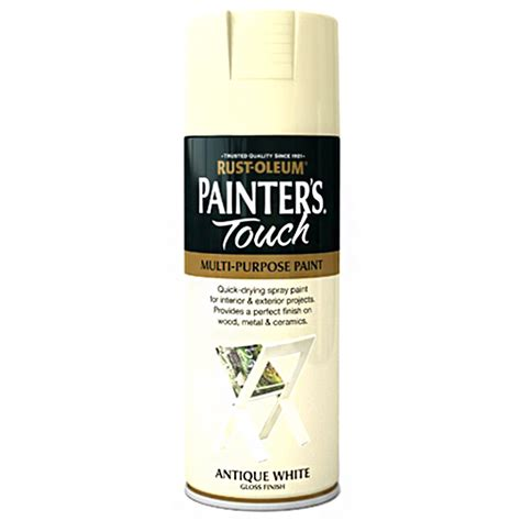 rust oleum painters touch antique white gloss spray paint
