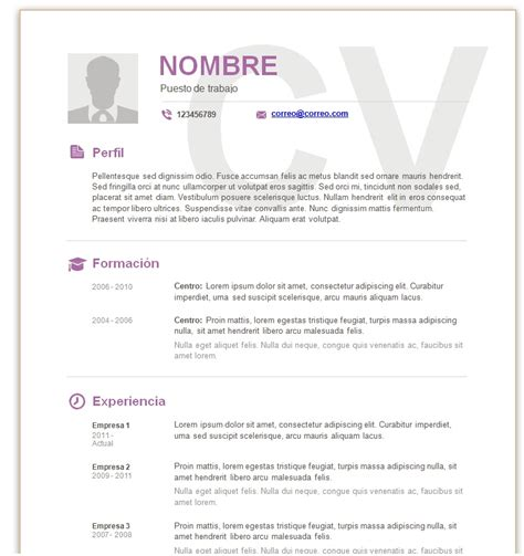 Descargar Modelo Curriculum Vitae España Descargar Curriculum Para Rellenar Y Imprimir Studio Design Gallery Best Design
