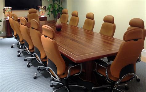 solid sapele wood conference tables custom table