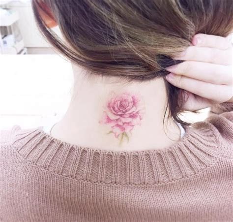 rose tattoo on back of neck 17 best ideas about neck tattoos for on