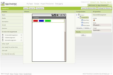 layout mit app inventor paintpot part 1 explore mit app inventor