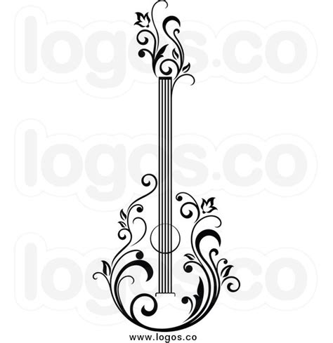 Elektrica Panda White electric guitar black and white clipart clipart suggest