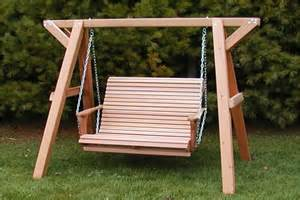 Wooden Patio Swing Kit Wood Porch Swing Set Plans Wooden Home