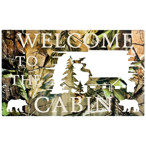Cheap Camo Home Decor by Lazart 174 Camo Welcome To The Cabin Wall 208041 Wall