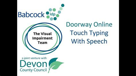 doorway online touch typing with speech youtube