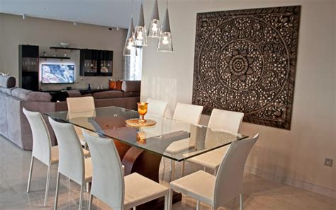 dining room feature wall mellieha penthouse contemporary dining room other by oriental