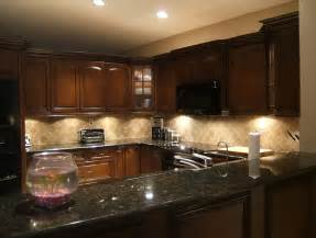 Kitchen Backsplash Ideas For Dark Cabinets backsplash ideas for dark cabinets and dark countertops home design