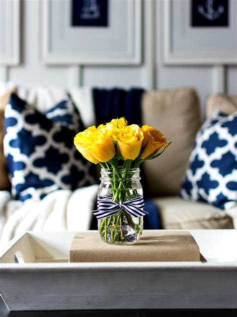yellow decor spring decor ideas in navy and yellow it all started
