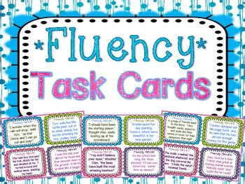 task cards fluency task cards by teaching with a mountain view tpt